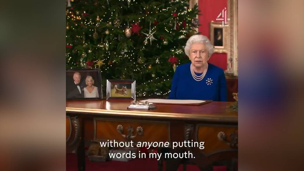 Click to play video 'UK's Channel 4 airs Deepfake version of Queen's Christmas message'