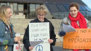 'We have lived wars': protesters gather in Lethbridge