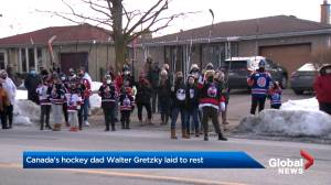 Canada's hockey dad laid to rest in Brantford, Ont. (02:36)
