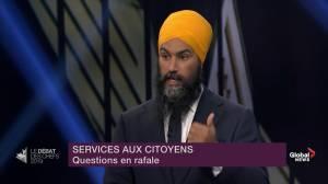 Leaders' Debate: Jagmeet Singh promises High Frequency Rail (HFR) corridor between Toronto and Quebec City