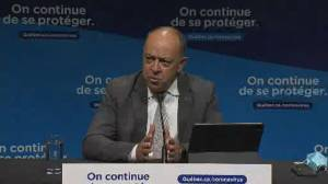 Quebec's COVID-19 situation, vaccine rollout going 'quite well,' says health minister (00:59)