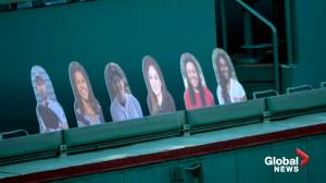 Boston using plastic cutouts of fans in stands as Red Sox opening game day arrives