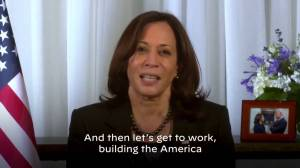 'Let's get to work': Harris thanks supporters ahead of inauguration (02:15)