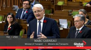 Coronavirus: Minister of Transport says federal government working on a package to help airlines (00:57)