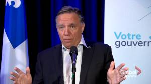 Quebec premier criticizes Trudeau, says O'Toole would be easier to work with (01:47)