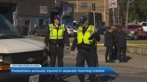 3 pedestrians struck in 2 separate incidents in Toronto