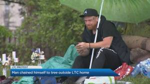 Why one man chained himself to a tree to fight for better long term care conditions