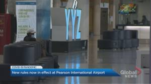 Mandatory face covering among new measures taking effect at Toronto Pearson International Airport