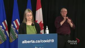 Alberta COVID-19 numbers higher in February than before second wave in the fall (01:03)