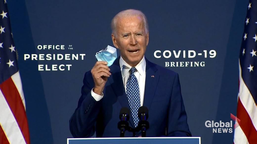 Click to play video 'Coronavirus: Biden implores Americans to wear face masks'