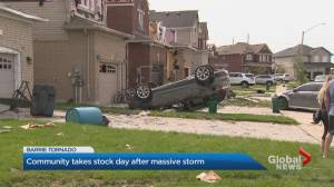 Barrie residents picking up the pieces after EF-2 tornado (02:13)