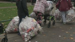 Vancouver binners' event left scrambling after being displaced by film shoot (02:08)