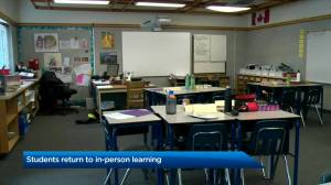 K-12 students in Alberta return to in-person learning (02:49)