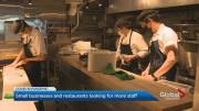 Play video: Restaurants and bars having trouble hiring enough staff