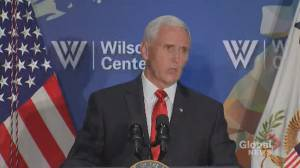 Pence tells Hong Kong protesters 'we stand with you'