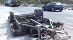 Tandem trailer flips on Hwy. 401 near Grafton