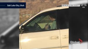 Driver caught playing trumpet behind the wheel