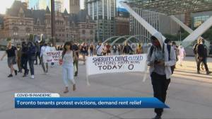 Toronto tenants protest evictions, demand rent relief during pandemic