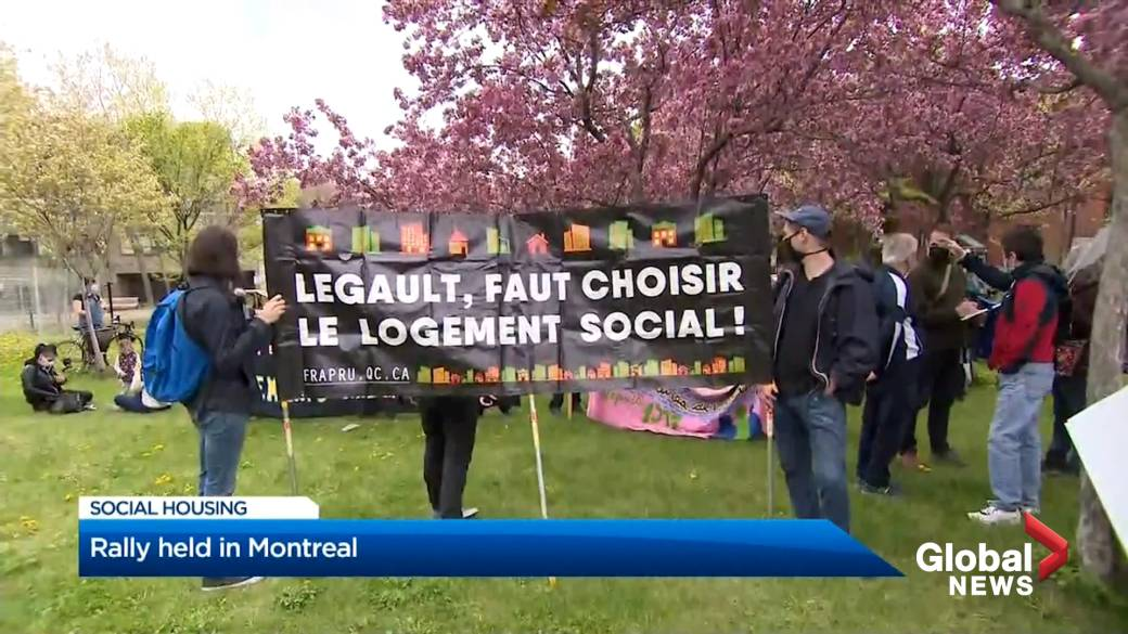 Click to play video: 'Advocates demand more social housing in Montreal'