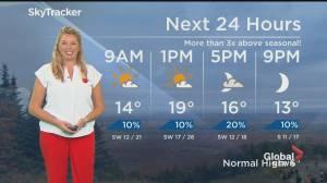 Global News Morning weather forecast: MONDAY, November 9, 2020 (01:19)