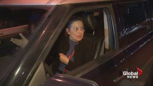 Tense exchange between protester, driver during East Vancouver march