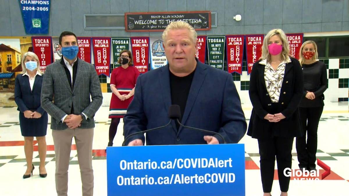 Click to play video 'Coronavirus: Ford says outbreak at his constituency office due to visitors'