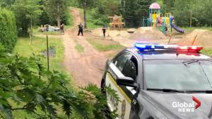 Witness video shows Quebec police in dramatic manhunt for Martin Carpentier