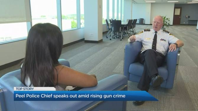 Peel police chief talks gun violence, says 136 shell casings found at Mississauga mass shooting site