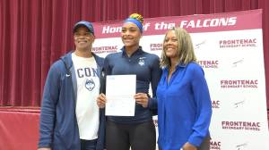 Kingston basketball star Aaliyah Edwards signs with the University of Connecticut Huskies