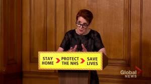 Coronavirus outbreak: U.K. health official says slight uptick in motor vehicle use is 'slightly concerning'