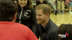 Britain's Prince Harry meets paralympian hopefuls in Tokyo