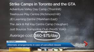 Ontario parents making alternative childcare plans as CUPE strike looms (02:46)