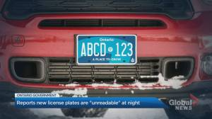 New Ontario licence plates causing concerns