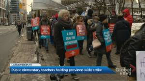 Ontario elementary teachers walk off job for 2nd time