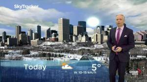 Edmonton early morning weather forecast: Wednesday, November 13, 2019