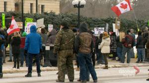 Regina police issue two 'Freedom Rally' organizers $2,800 fines (02:15)