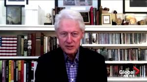 Ex-president Bill Clinton recovering from infection in hospital, doctors say (01:06)
