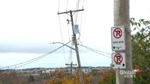 Repeated calls to have leaning power pole replaced frustrates Halifax resident (02:06)