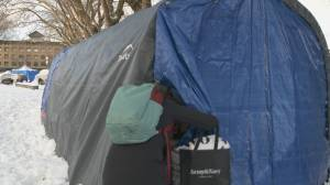 Unsanctioned warming tent opens in Oppenheimer Park