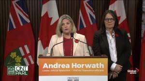 Andrea Horwath says fall economic outlook shows Ford 'cuts are here to stay'