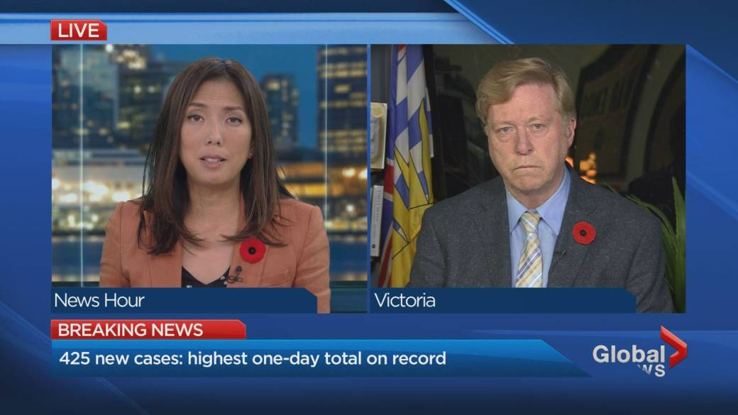 Click to play video 'B.C. sets new COVID-19 records'
