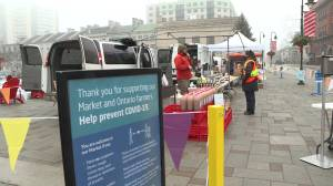 Kingston market venders notice smaller crowds on first Saturday of stay at home order (01:06)