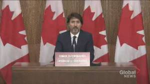 Trudeau says repatriation of orphaned girl in Syria an 'exceptional case' (00:44)