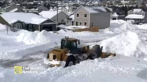One snowplow takes on the aftermath of St. John's historic snowfall aftermath
