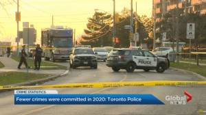 Statistics show crime was down slightly in Toronto in 2020 (02:09)