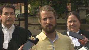 David Stephan speaks to media following acquittal