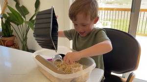 Katie Engel shows us how to make sensory bins