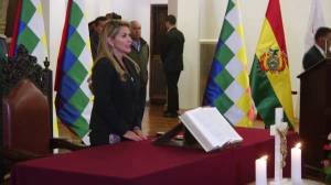 Bolivia's interim president swears in new ministers