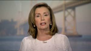 Nancy Pelosi says Trump has shown disrespect 'for facts, for families and for women' (00:41)