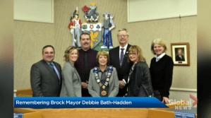 Remembering Brock mayor Debbie Bath-Hadden (02:35)